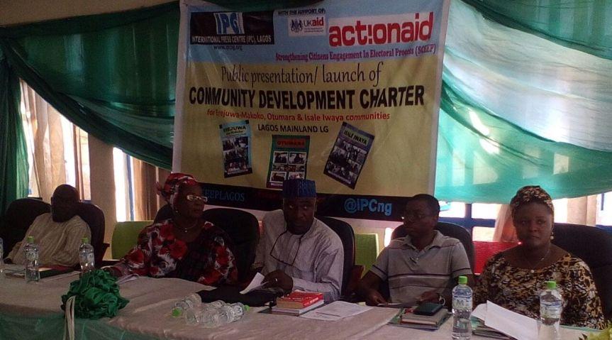 IPC/ACTIONAID launches community development charter inLagos