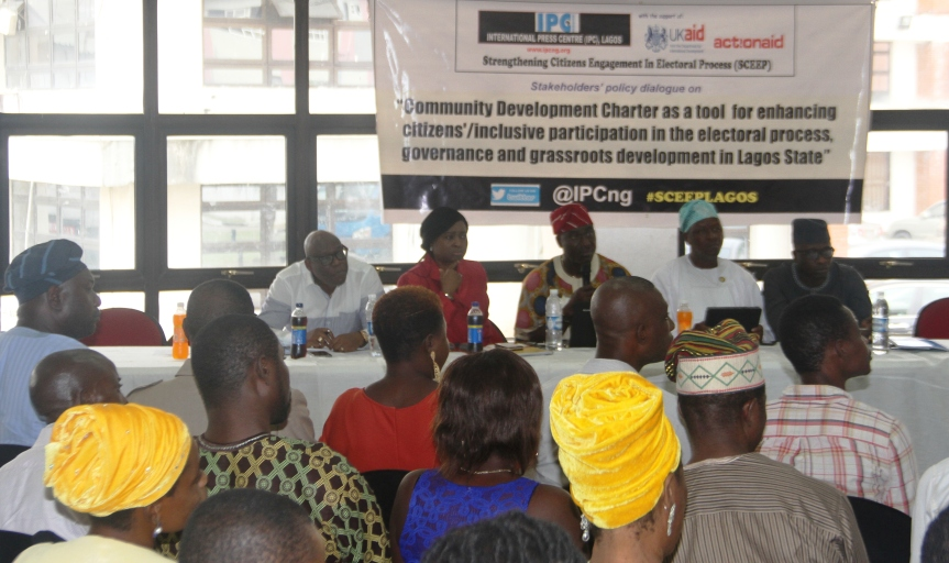 When IPC/Actionaid brought citizens to interface with LASG officials on inclusiveparticipation