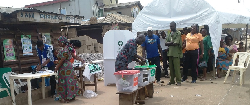 Nigerians vote their choice candidates