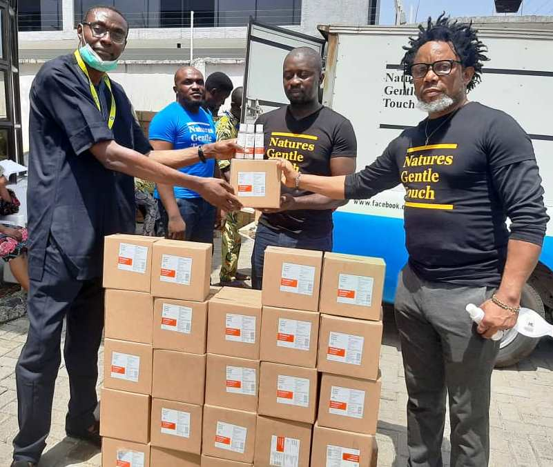 COVID-19: Natures Gentle Touch donates 500 cartons of hand sanitizers to Lagos State Government